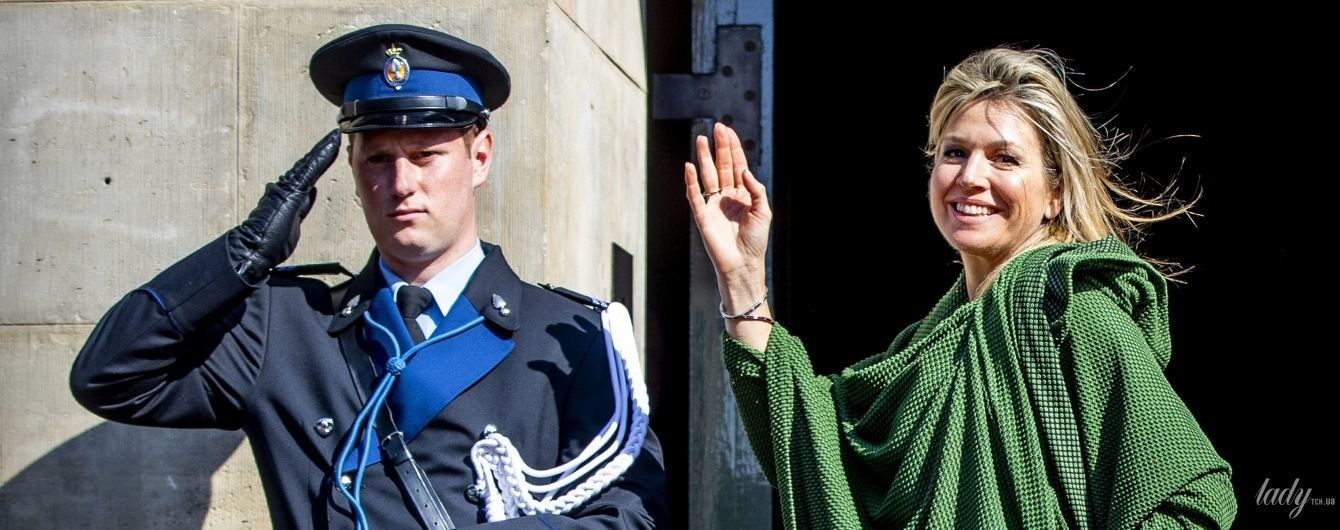 У смарагдовій сукні та з розпатланим волоссям: королева Максима відвідала урочистий прийом