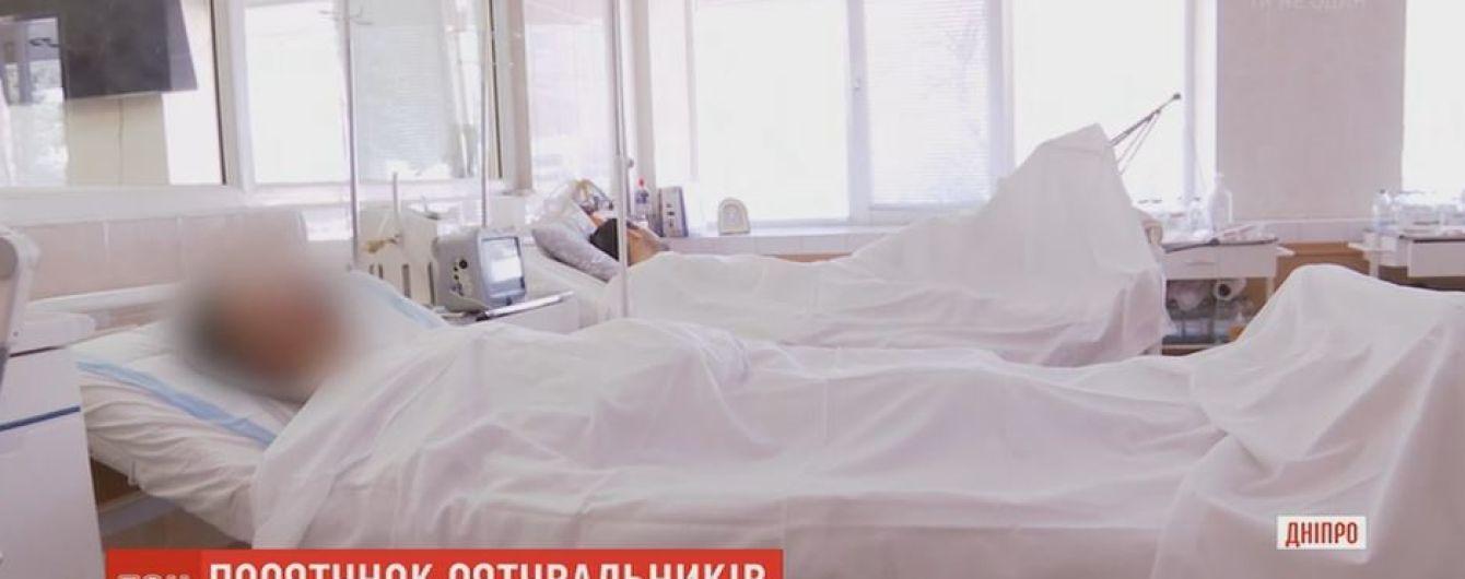Двух раненых с передовой на вертолете доставили в больницу Днепра