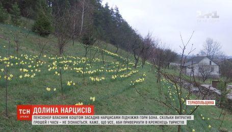Пенсіонер створив долину нарцисів, аби привернути увагу туристів в Кременець