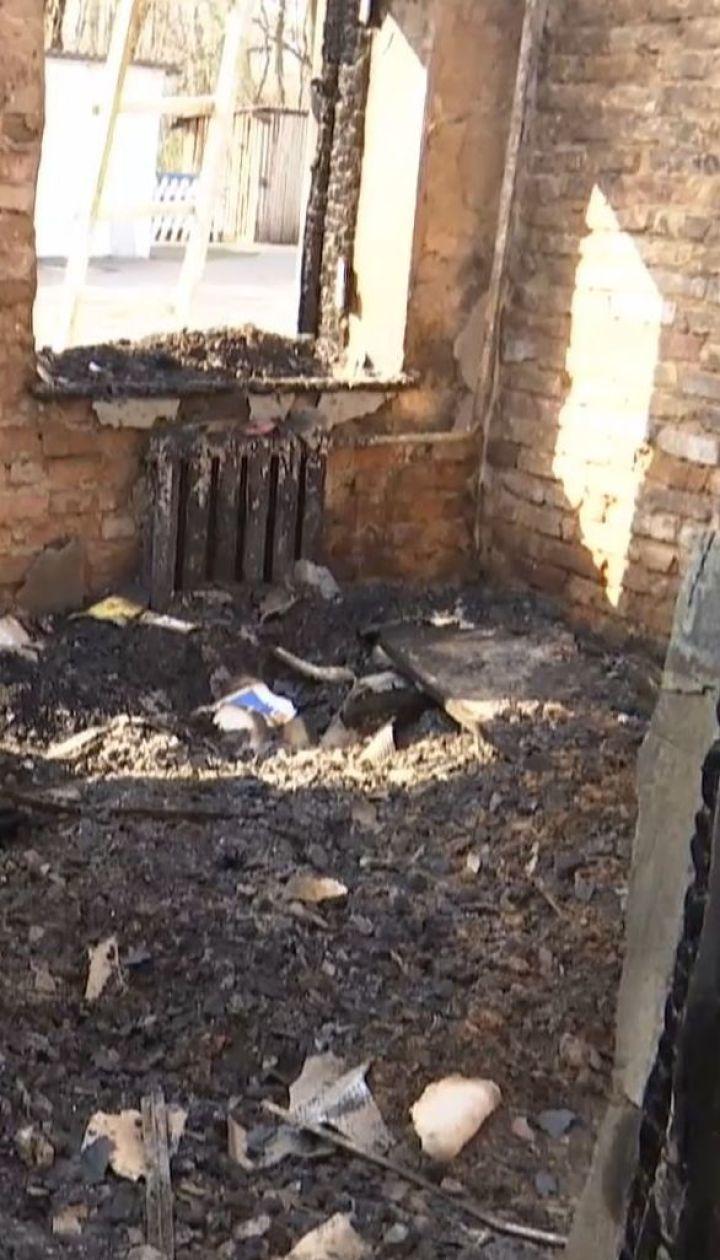 В Житомирской области дотла сгорела школа