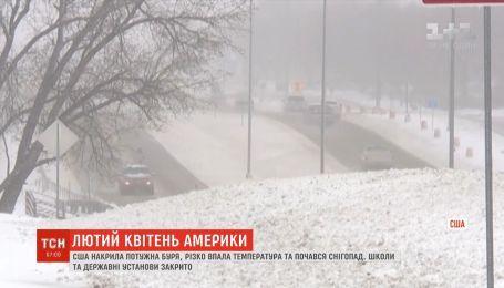США накрыла мощная буря: упала температура и снежит