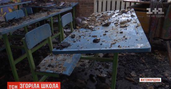 У селі Житомирської області вщент згоріла школа: селяни кажуть про підпал