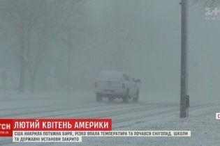 США накрыла снежная буря: за несколько часов температура из +20 превратилась в минусовую