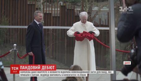 Королева Дании лично открыла новый загон для панд, прибывших из Китая