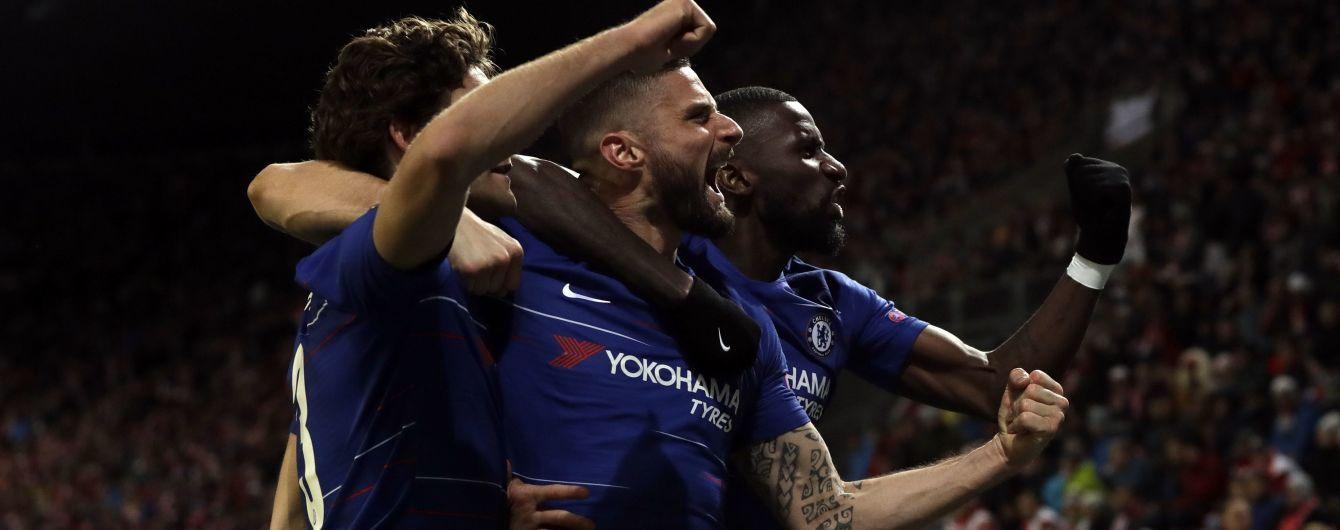 """""""Челсі"""" на останніх хвилинах дотиснув """"Славію"""" в чвертьфіналі Ліги Європи"""