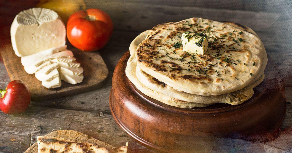 Хычин: кавказская лепешка с сыром