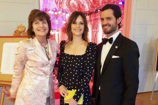 """В """"гороховом"""" платье и с новой прической: принцесса София с мужем на торжественном приеме"""