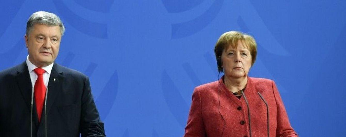 """""""Надо бороться за голоса избирателей"""": как прошла встреча Порошенко с Меркель"""