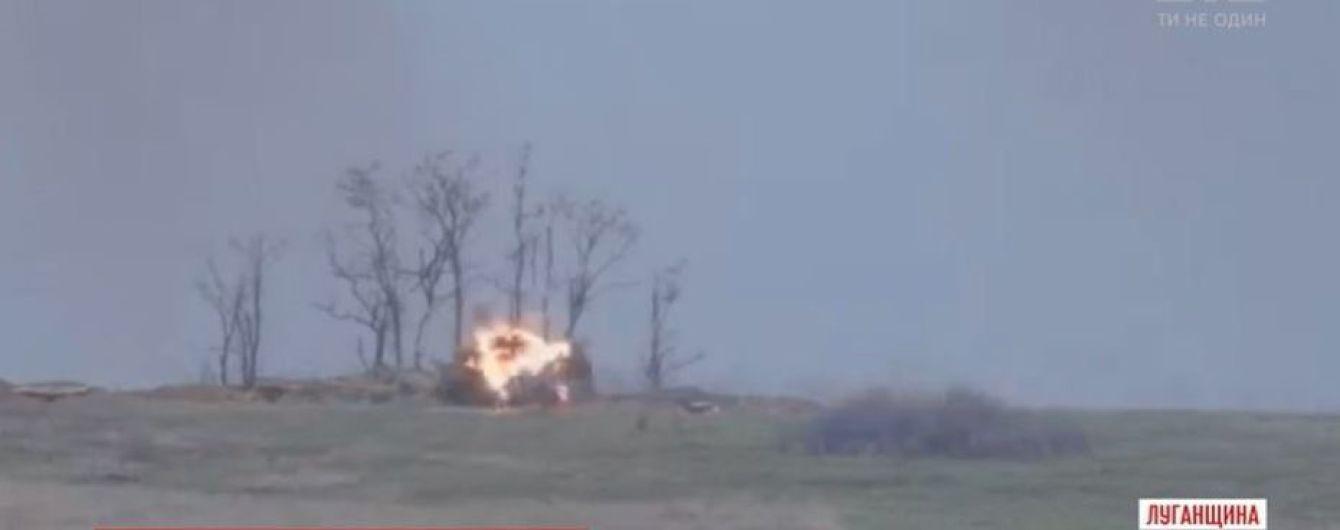 Военные показали, как уничтожают надоедливые позиции боевиков на Донбассе