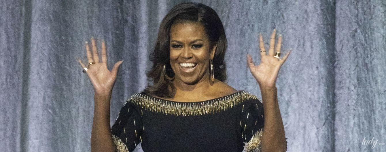 Она красивая: Мишель Обама в стильном комбинезоне выступила в Лондоне