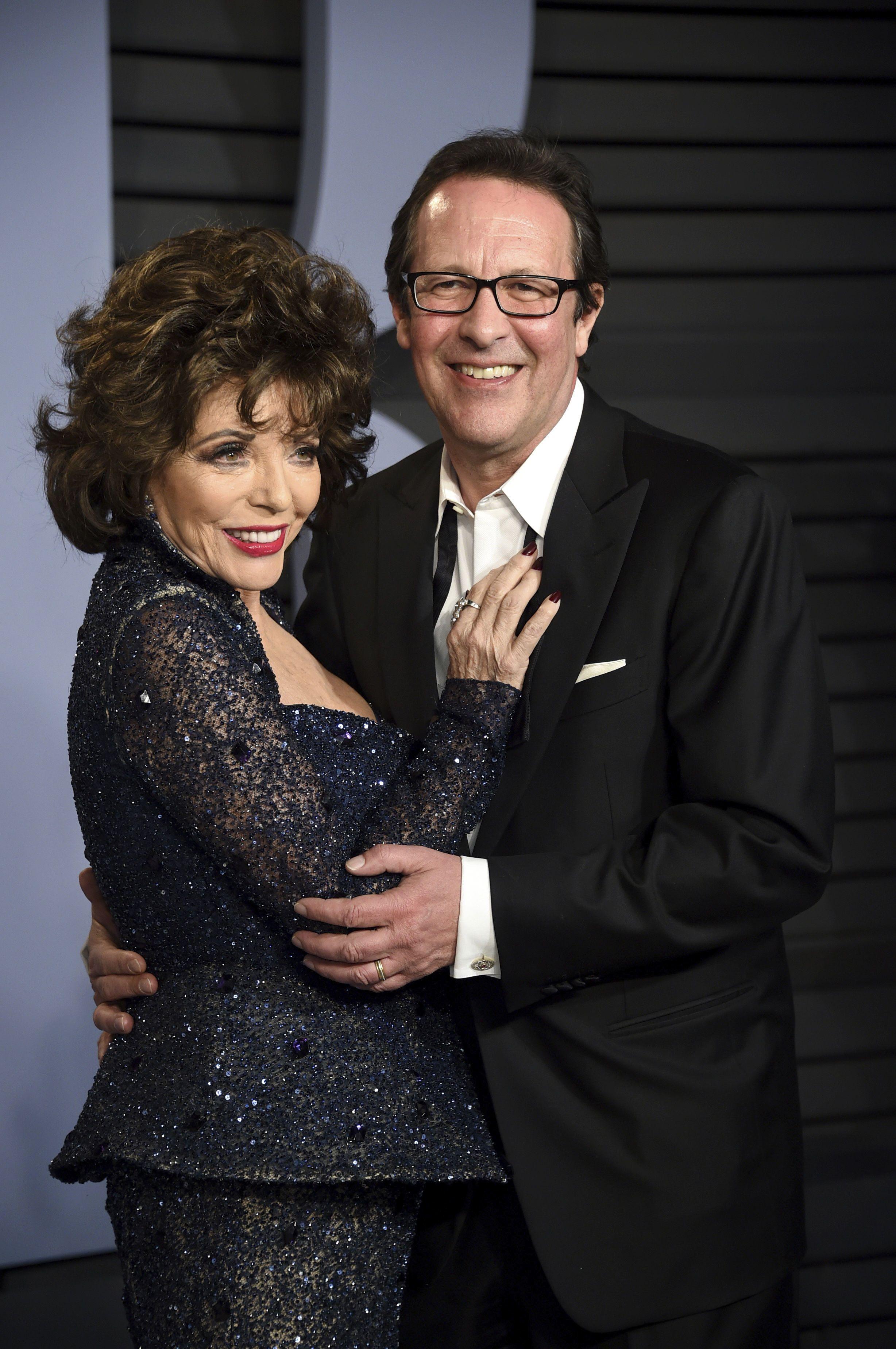 Джоан Коллінз з чоловіком