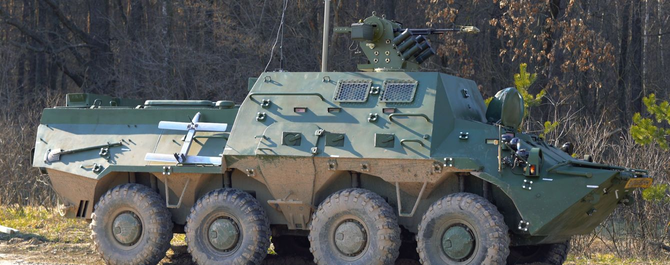 В Україні презентували новий БТР, обладнаний автоматизованою системою керування боєм та дронами