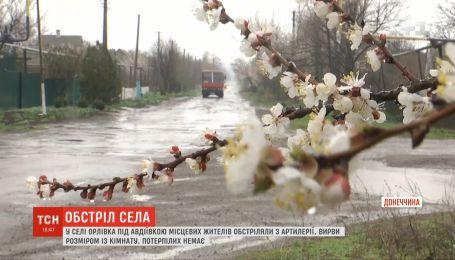 В селе Орловка местных жителей обстреляли из артиллерии