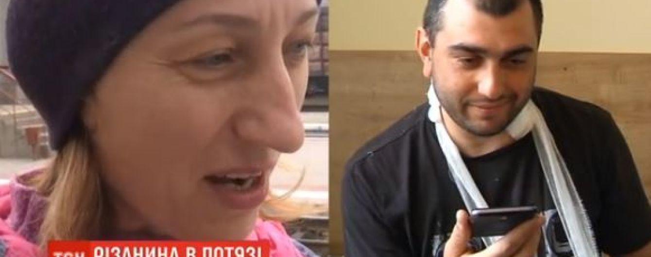 Детский стоматолог спасла жизнь пассажиру поезда, которого подрезал неадекватный сосед по купе