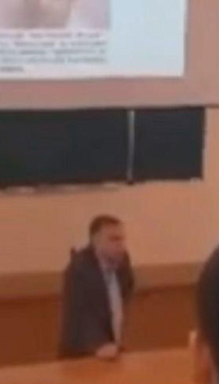 Преподаватель Сумского госуниверситета устроил на лекции агитацию одного из кандидатов в президенты