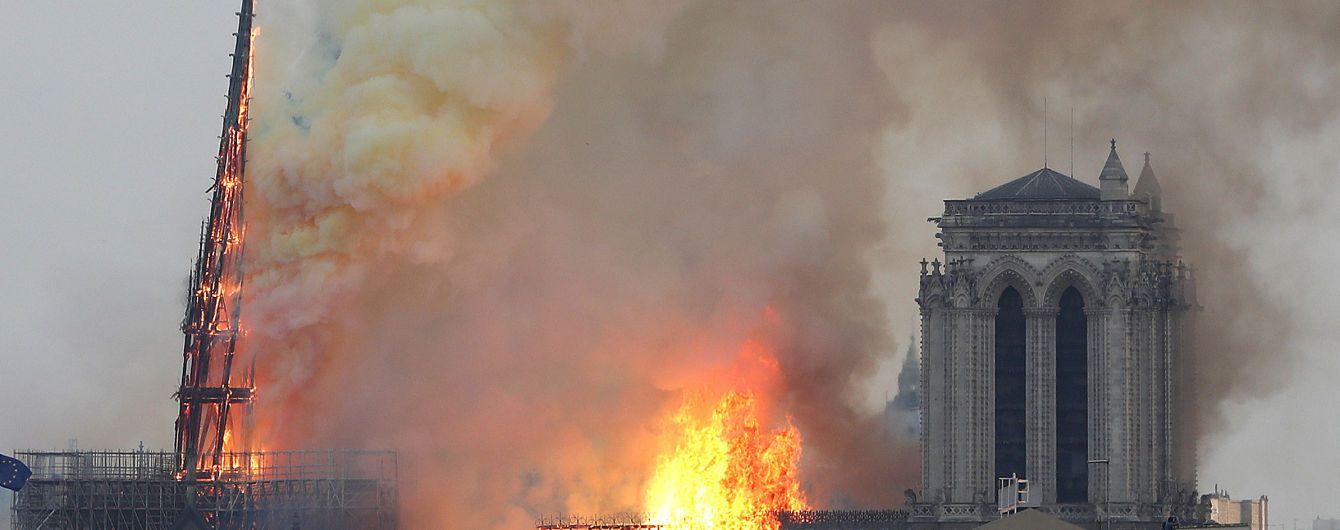 Нотр-Дам в огне. Правоохранители и чиновники рассказали, был ли поджог