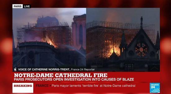 Пожежа в Нотр-Дамі: пожежники не можуть загасити вогонь всередині собору