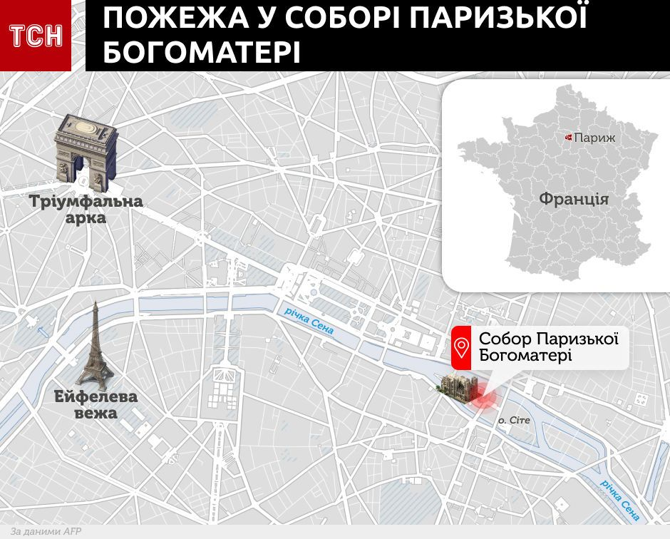 Собор Паризької Богоматері, Нотр-Дам, Париж, інфографіка