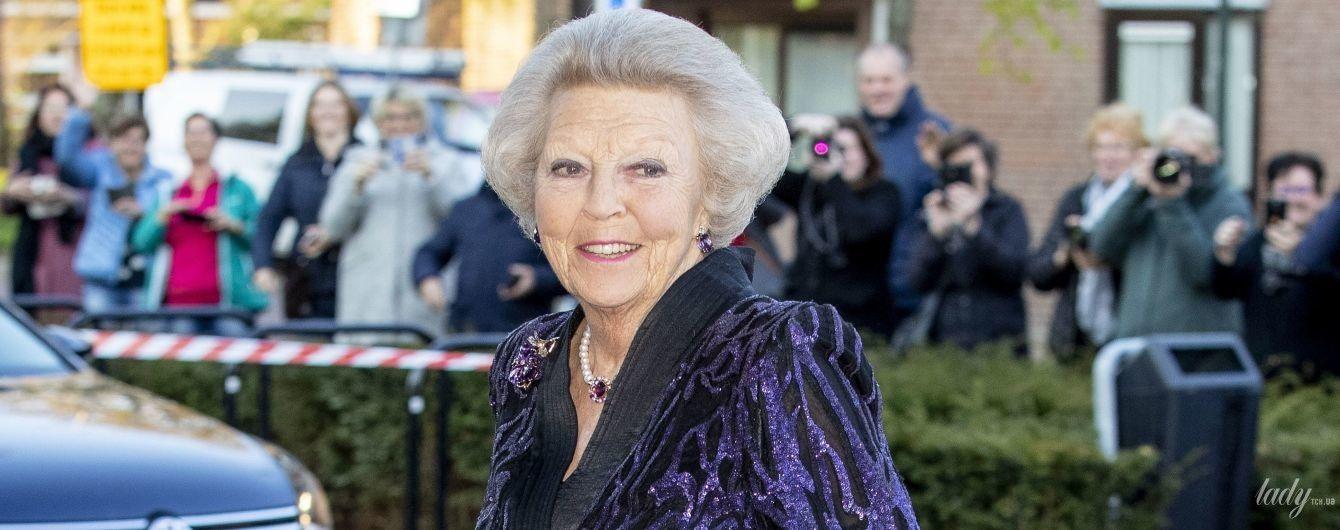 Вся сияет: 81-летняя принцесса Беатрикс посетила торжественное мероприятие в Нидерландах