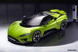Lotus засветил электрический гиперкар на видео