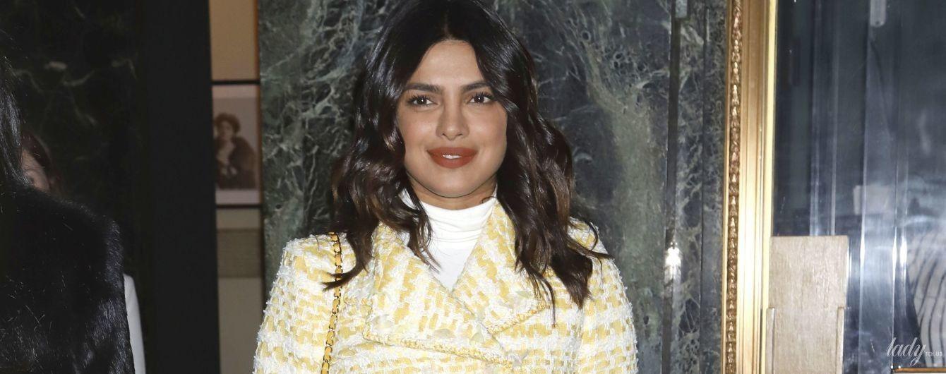В костюме от Chanel: стильная Приянка Чопра сходила на Бродвей