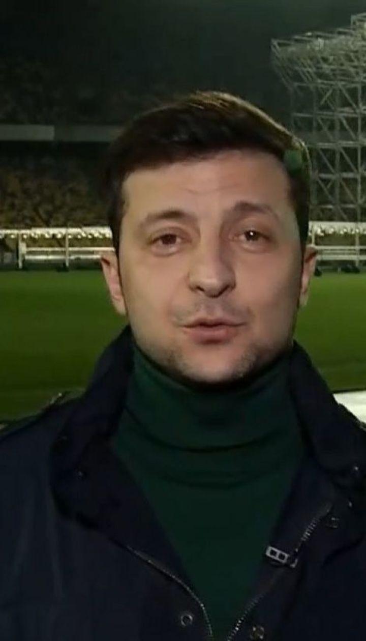 """Зеленский снял новое видеопослание на """"Олимпийском"""""""