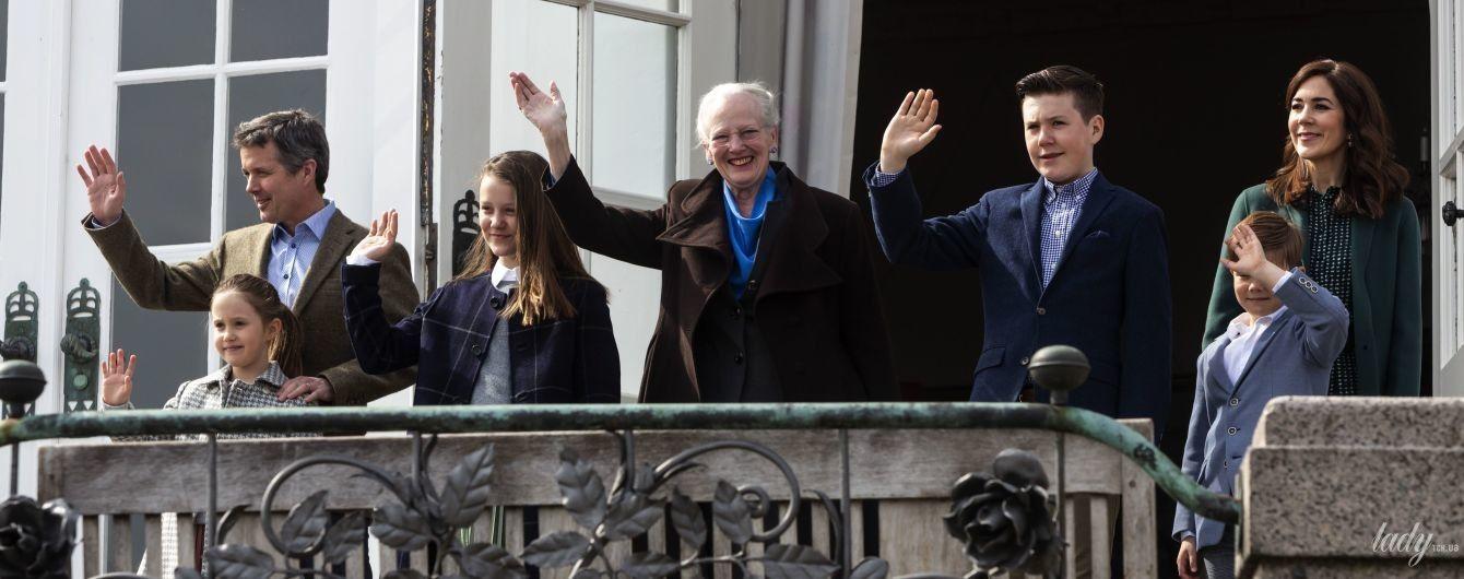 Ее Величеству 79: датская королева Маргрете II в свой день рождения приветствовала подданных