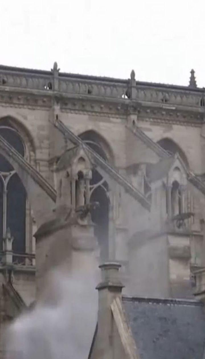 Крышу Собора Парижской Богоматери до сих пор заливают водой