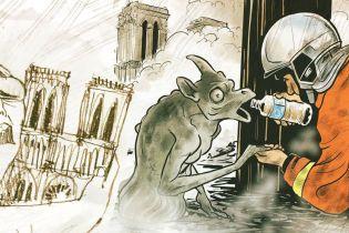 Пожежа у Нотр-Дамі: історія двох зворушливих карикатур, що підкорили світ