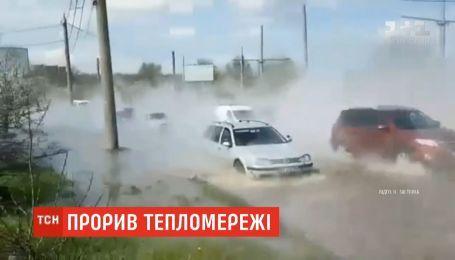 Центр Харькова заполнили тонны горячей воды из-за аварии на теплосети