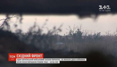 За минулу добу бойовики вісім разів порушили режим тиші – штаб ООС