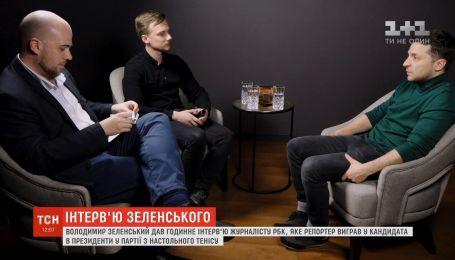 Інтерв'ю, яке вибороли у теніс: Володимир Зеленський зустрівся з журналістом РБК-Україна