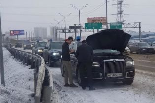 Фото сломавшегося российского лимузина Aurus попало в Сеть