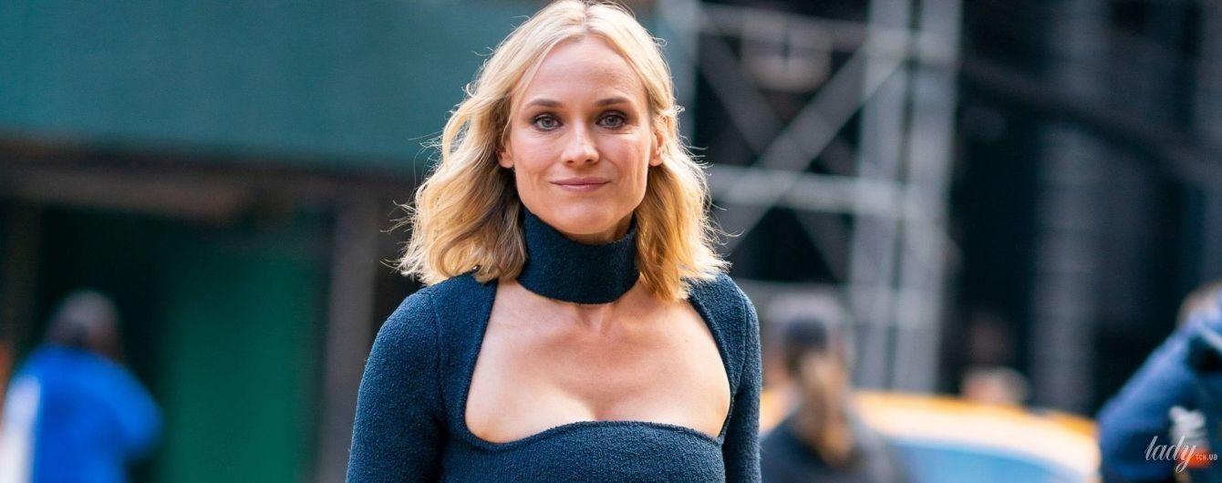 С акцентом на пышную грудь: Диана Крюгер надела обтягивающее платье спустя пять месяцев после родов