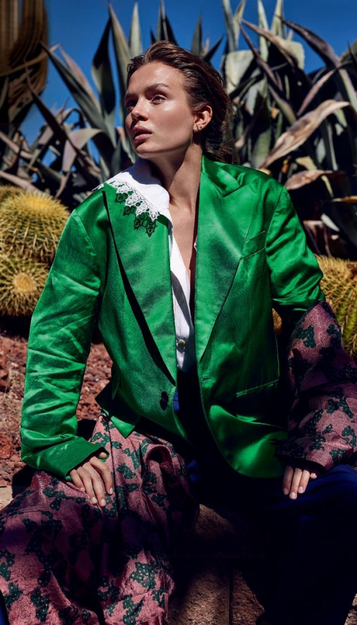 Жозефін Скривер у фотосесії для Marie Claire Italia