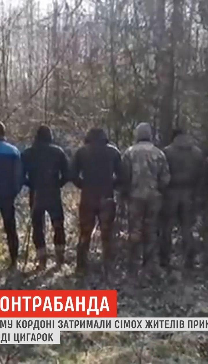 На украинско-польской границе задержали группу лиц, подозреваемых в контрабанде сигарет