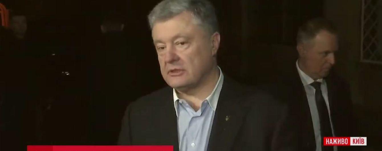 Порошенко приехал на дебаты в студию Суспильного