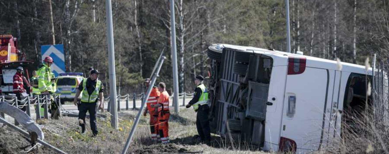 У Швеції перекинувся норвезький автобус з туристами