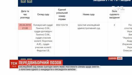 Суд рассмотрит иск о снятии Владимира Зеленского с выборов