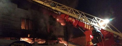 В Харькове сгорел комплекс с банями