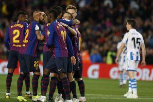 """""""Барселона"""" обіграла """"Реал Сосьєдад"""" і наблизилася до чемпіонства"""