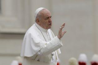 У великодній промові Папа Римський згадав Україну