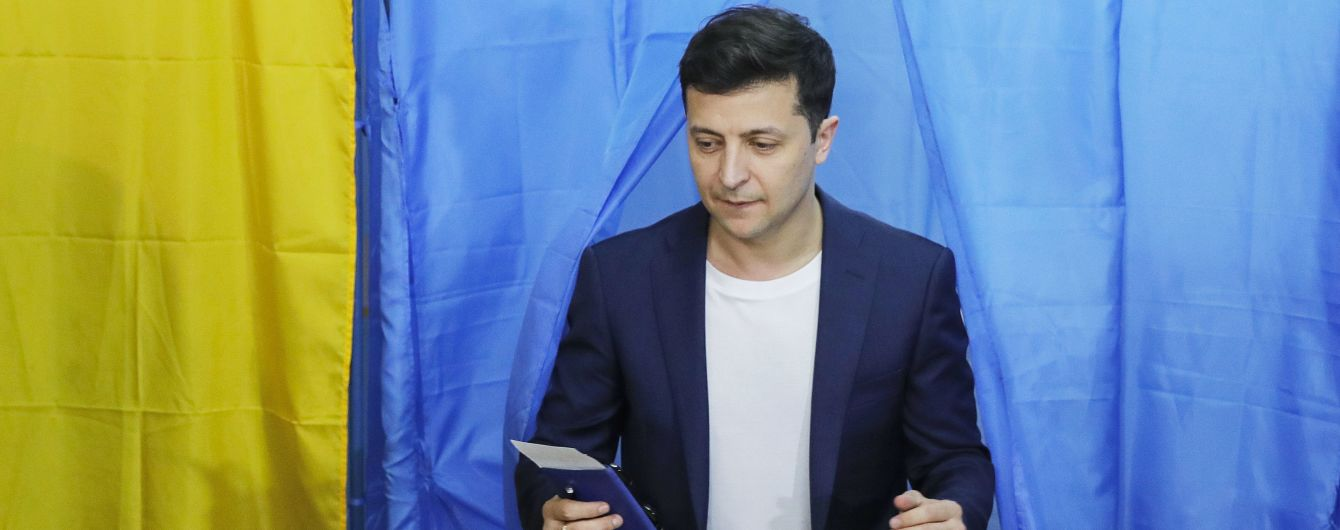 Національний екзит-пол: Зеленський набирає 73,2%, а Порошенко - 25,3%