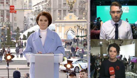В штабах кандидатов в президенты ожидают выступлений Порошенко и Зеленского