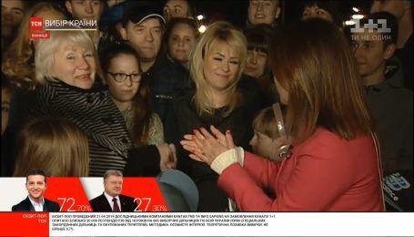Жінки, які голосували за різних кандидатів, у прямому ефірі ТСН потисли руки на знак миру