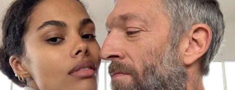 22-летняя Тина Кунаки и 52-летний Венсан Кассель стали родителями