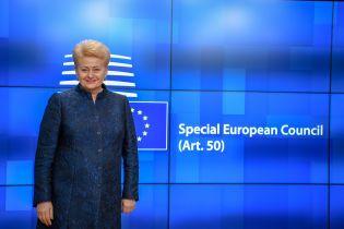 Грибаускайте поздравила Зеленского и пожелала украинцам благополучия