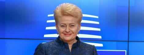 Грібаускайте привітала Зеленського і побажала українцям добробуту