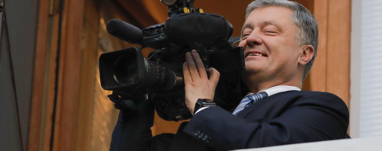 Порошенко поділився результатом першої операторської роботи та опублікував відео із балкону АП