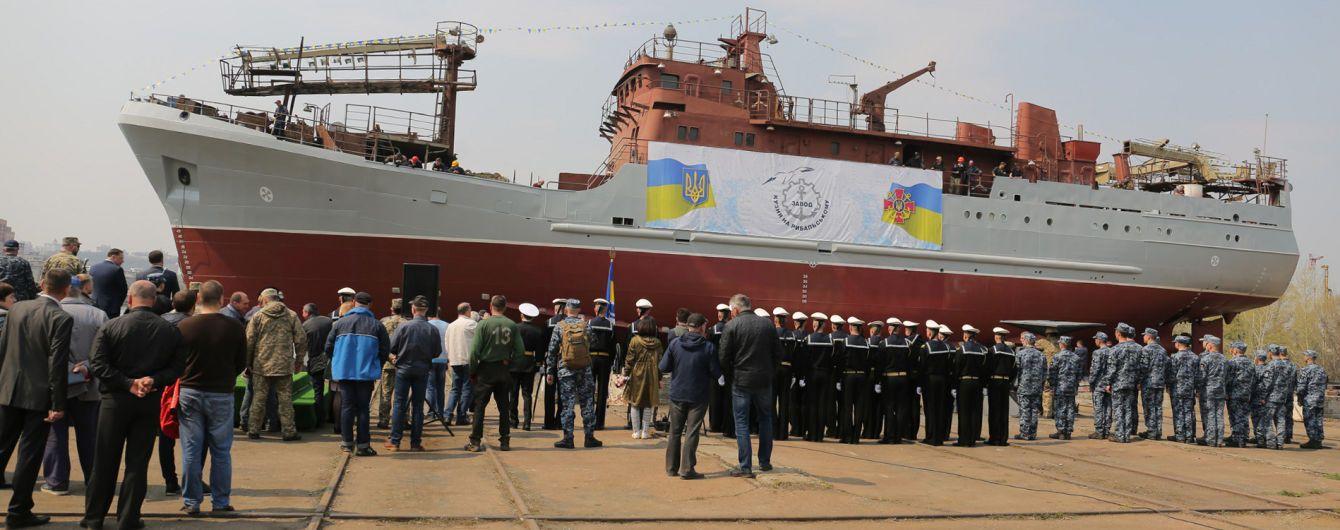 ВСУ спустили на воду первый средний разведывательный корабль для флота